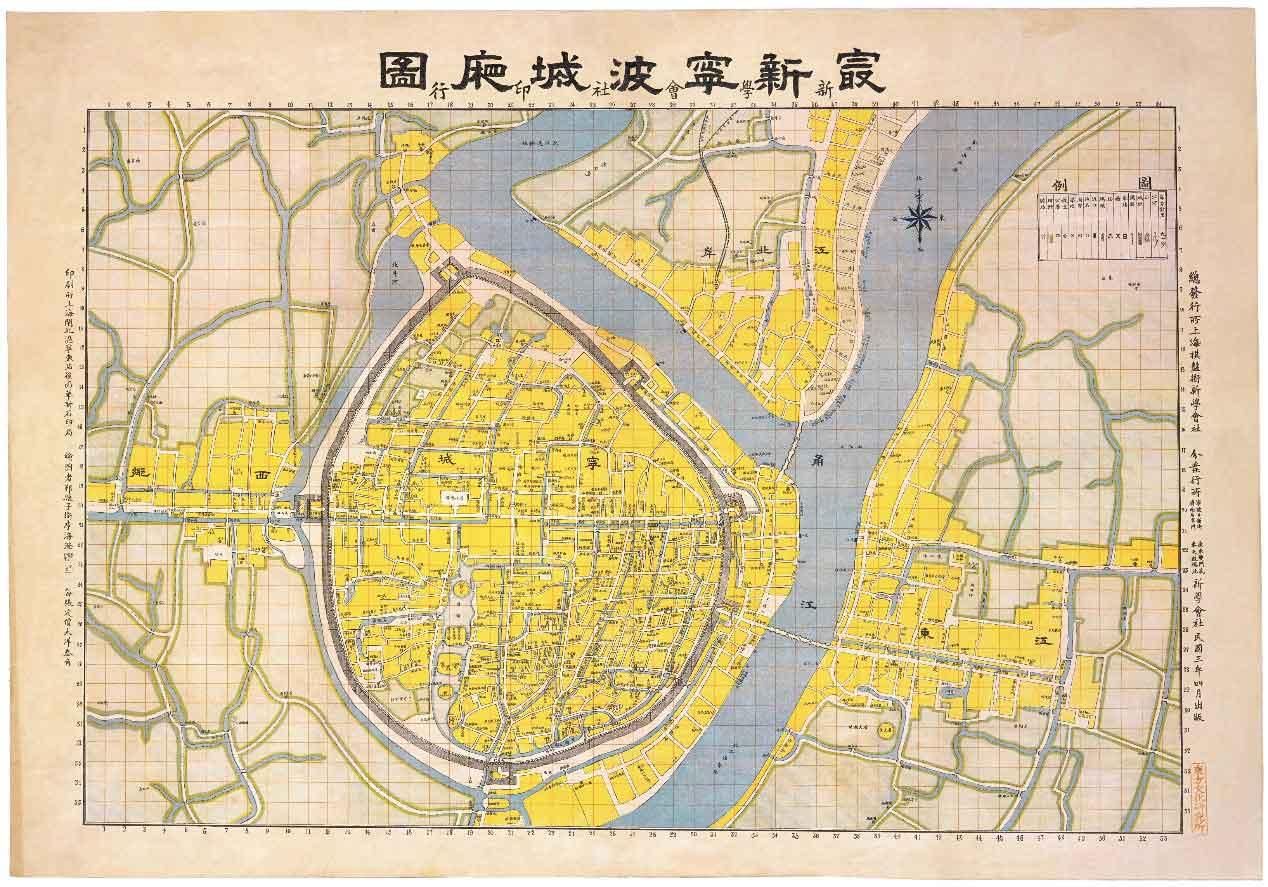 宁波大学手绘地图